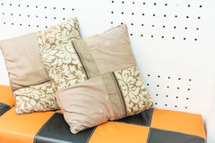 Pillow on sofa decoration. Interior in living room Stock Image