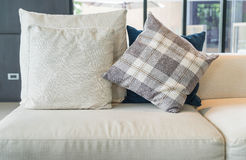 Pillow on sofa decoration interior. In living room Royalty Free Stock Image