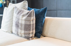 Pillow on sofa decoration interior. In living room Stock Photos