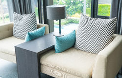 Pillow on sofa decoration interior Royalty Free Stock Photography