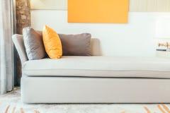 Pillow on sofa stock photo