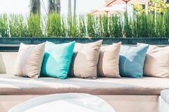 Pillow on sofa Stock Photos