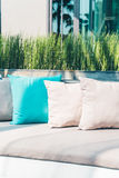 Pillow on sofa Stock Images