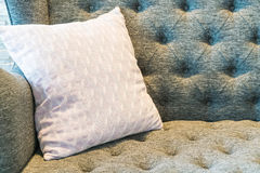 Pillow on sofa decoration in living room. Pillow on sofa decoration interior in living room Royalty Free Stock Photography