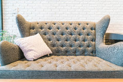 Pillow on sofa decoration in living room. Pillow on sofa decoration interior in living room Stock Photo