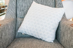 Pillow on sofa decoration in living room. Pillow on sofa decoration interior in living room Royalty Free Stock Photos