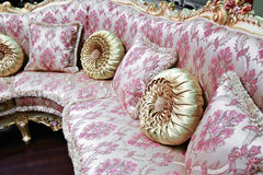 Pillow on sofa at home. Beautiful Pillow on sofa at a home Royalty Free Stock Image