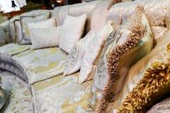 Pillow on sofa at home Royalty Free Stock Photos