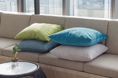 Pillow and sofa. Interior design Royalty Free Stock Images