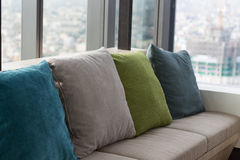 Pillow on sofa, interior. Pillow on sofa interior design Royalty Free Stock Image