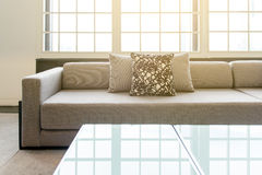 Pillow on sofa in living room Royalty Free Stock Images