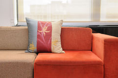 Pillow on sofa Stock Photo