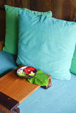Pillow on spa room Royalty Free Stock Image