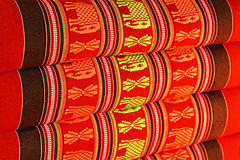 Pillow texture. This is thai-esan Monkhit pillow texture in thailand Royalty Free Stock Photo