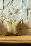 Pillow and  wall. Stock Photo