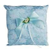 Pillow for wedding rings Royalty Free Stock Photography