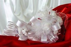 Pillow for wedding rings Stock Photos