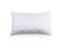 Pillow with white protective mite pillow case Royalty Free Stock Photography