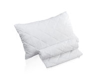 Pillow with white protective mite pillow case Royalty Free Stock Photos