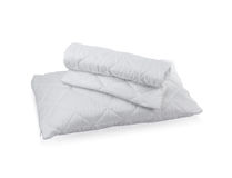 Pillow with white protective mite pillow case Stock Photography