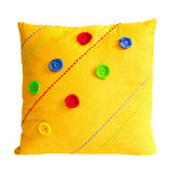 Pillow yellow Stock Images