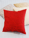 Pillows. Colorful pillows on a white bed Stock Images