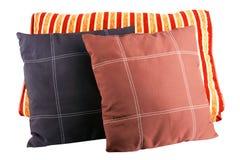 Pillows. Three soft pillows isolated on white Stock Photo