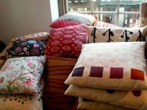 Pillows. Shop with pillows Royalty Free Stock Photos