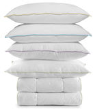 Pillows And Duvets. Isolated Royalty Free Stock Images