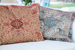 Pillows with a Arabic pattern Royalty Free Stock Image