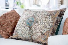 pillows with a Arabic pattern Stock Photo