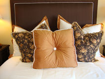 Pillows on Bed Stock Images