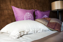 Pillows and bed Royalty Free Stock Image