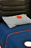 Pillows and Bed. Comfortable looking pillows and bed Stock Photo