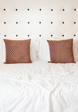 Pillows on a bed Stock Image