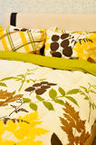 Pillows and Bed. Comfortable looking pillows and bed Royalty Free Stock Photos