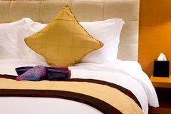 Pillows and Bed  Stock Photo