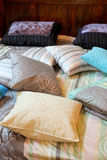 Pillows on bed Royalty Free Stock Images
