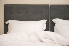 Pillows on the bed in bedroom Royalty Free Stock Photo