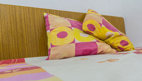 Pillows on a bed Comfortable soft pillows Stock Photography