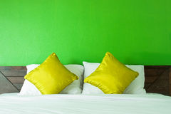 Pillows on bed Royalty Free Stock Photo