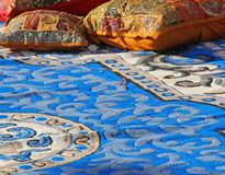 Pillows and carpets in a harem Arabic Stock Photo
