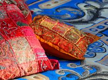 Pillows and carpets in a harem Arabic Stock Photos