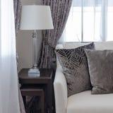 Pillows on classic sofa style Royalty Free Stock Photos