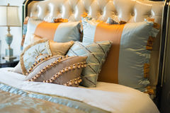 Pillows. On a classical bed Royalty Free Stock Image