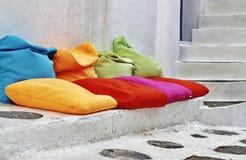 Pillows On Concrete Steps Stock Photo