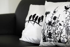 Pillows on the couch Royalty Free Stock Images