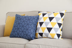Pillows on couch Royalty Free Stock Image