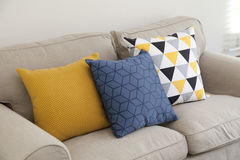 Pillows on couch Royalty Free Stock Photography