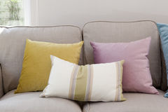 Pillows on couch Stock Image